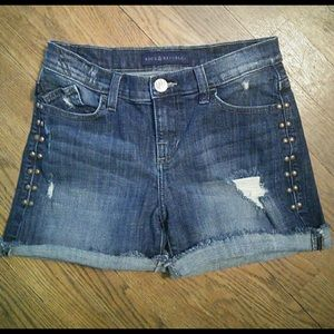 Rock and republic distressed studded cutoff shorts